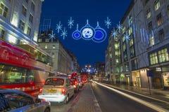Christmas lights on The Strand, London Royalty Free Stock Image