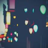 Christmas lights. On the street Royalty Free Stock Photos