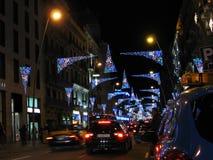 christmas lights street Στοκ Εικόνες