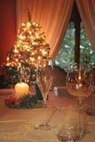 Christmas lights on the table Stock Photos