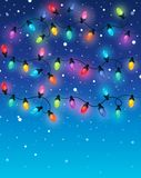 Christmas lights theme image 2. Vector illustration Royalty Free Stock Image