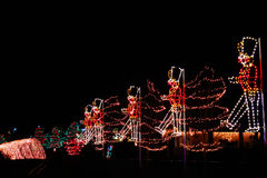 Christmas Lights - Toy Soldiers Marching Royalty Free Stock Images