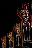 Christmas Lights - Toy Soldiers Salute! Royalty Free Stock Image