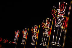 Christmas Lights - Toy Soldiers Saluting! Royalty Free Stock Photos