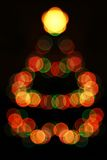 christmas lights tree Στοκ εικόνα με δικαίωμα ελεύθερης χρήσης