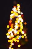 christmas lights tree στοκ φωτογραφία
