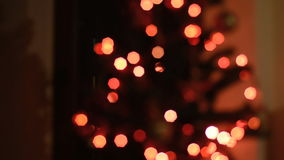 Christmas lights stock footage