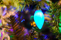 Christmas lights on a tree Royalty Free Stock Images