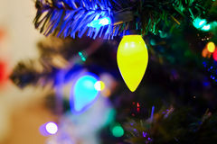 Christmas lights on a tree Royalty Free Stock Image