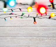 Christmas lights on tree, out of focus Stock Photos