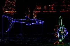 Christmas Lights - Tropical Fish and Shark Stock Photos