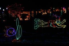 Christmas Lights - Tropical Lighthouse Theme Royalty Free Stock Image