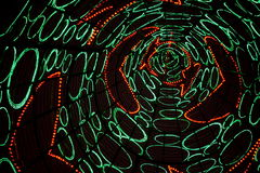 Christmas lights tunnel 2 royalty free stock images