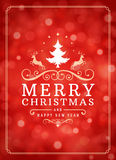 Christmas lights and typography label design Stock Image