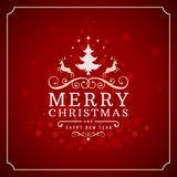 Christmas lights and typography label design Stock Photo