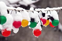 Snowing in christmas Royalty Free Stock Image