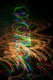 Christmas lights, unfocused background Stock Photos