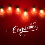 Christmas Lights. Vector Holiday Illustration Stock Photography