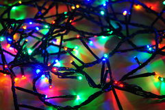 Free Christmas Lights Wire Stock Photo - 35633150