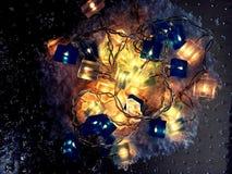 Christmas lights wire Stock Photos