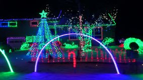 Christmas Lights, Xmas, Holiday Spirit stock footage