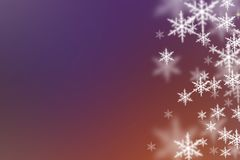 Christmas background. Christmas lila background with snowflakes Royalty Free Stock Image