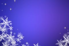 Christmas background. Christmas lila background with snowflakes Stock Photos