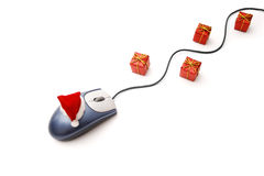 Christmas on-line Royalty Free Stock Photo