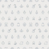 Christmas line icon pattern set vector illustration