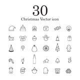Christmas  line icon set. Royalty Free Stock Photos