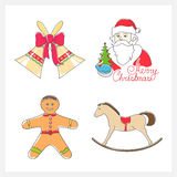 Christmas Line Style Icons Royalty Free Stock Photos