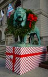 Christmas Lion Stock Photography