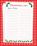 Christmas list Royalty Free Stock Photo