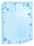 Christmas list with snowflake Stock Photography