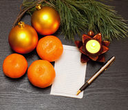 Christmas list Stock Images