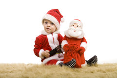 Christmas little baby boy Royalty Free Stock Photo