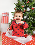 Christmas little boy Royalty Free Stock Photos