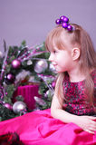 Christmas little girl Royalty Free Stock Photo
