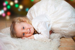 Christmas little girl Stock Photo