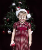 Christmas little girl Royalty Free Stock Images