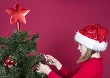 Christmas little girl Stock Photo