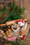 Christmas little places oatmeal Stock Photography