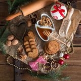 Christmas little places oatmeal Royalty Free Stock Photos