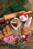 Christmas little places oatmeal Royalty Free Stock Image
