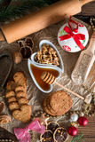 Christmas little places oatmeal Stock Images