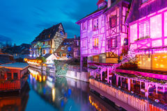 Christmas Little Venice in Colmar, Alsace, France Royalty Free Stock Image