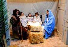 Christmas live nativity scene Royalty Free Stock Image