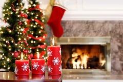 Christmas living room royalty free stock photos