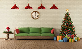 Christmas Living Room Stock Photos