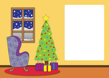 Christmas living room cartoon Royalty Free Stock Photography